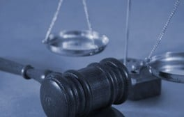 Judge's gavel and justice scales